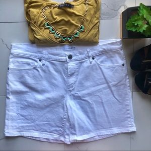 Ann Taylor LOFT White Denim Shorts